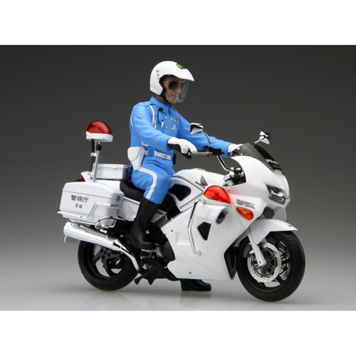 Fujimi Bike-SP Honda VFR800P Police Motorcycle (White) with Driver Figure 1/12 Scale Kit