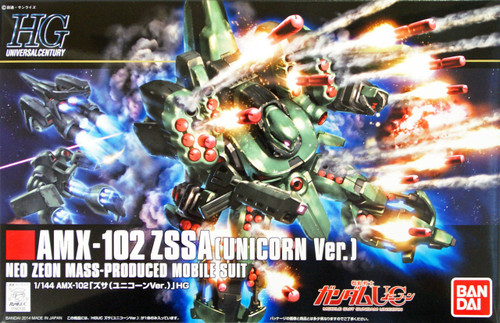 Bandai HGUC 180 Gundam AMX-102 ZSSA (UNICORN Version) 1/144 Scale Kit