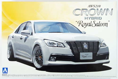 Aoshima 08461 AWS210 Toyota Crown Hybrid Royal Saloon G 2012 20 inch custom 1/24 Scale Kit