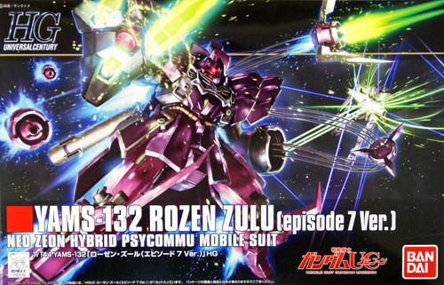 Bandai HGUC 185 Gundam YAMS-132 ROZEN ZULU (Episode 7 Version) 1/144 Scale Kit