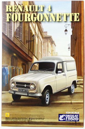 Ebbro 25003 RENAULT 4 Fourgonnette 1/24 Scale plastic model Kit 4526175250034