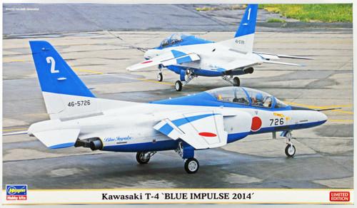 Hasegawa 02125 Kawasaki T-4 Blue Impulse 2014 (2 Airplanes) 1/72 Scale Kit