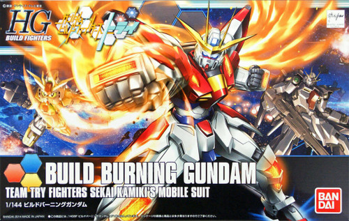 Bandai HG Build Fighters 018 BUILD BURNING Gundam 1/144 Scale Kit