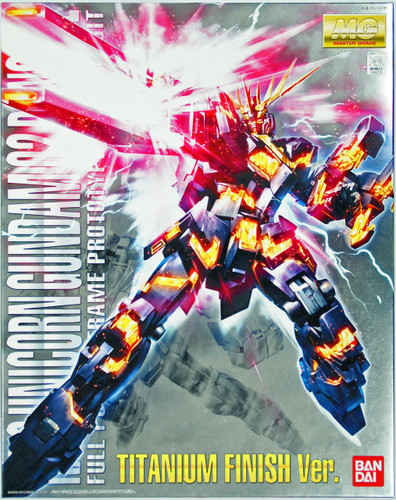 Bandai MG 807755 Unicorn Gundam 02 Banshee Titanium Finish Version 1/100 Scale Kit