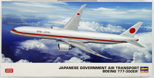 Hasegawa 10810 Japanese Government Boeing 777-300ER (Limited Edition) 1/200 Scale Kit