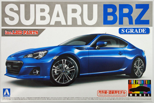 Aoshima 10075 Subaru BRZ 2012 S Grade 1/24 Scale Kit (Pre-painted Model)