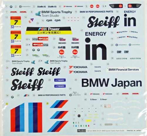 Fujimi RS-46 Team Studie BMW Z4 GT3 #7 1/24 Scale Kit 126128