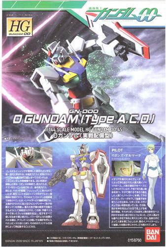 Bandai HG OO 45 Gundam O Gundam (Type A.C.D.) 1/144 Scale Kit