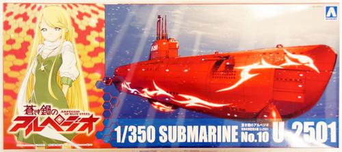 Aoshima 11898 ARPEGGIO OF BLUE STEEL Series #10 Submarine U-2501 1/350 Scale Kit