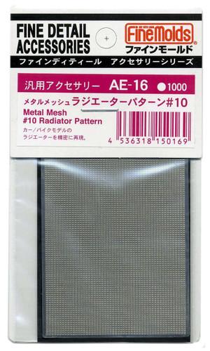 Fine Molds AE16 Metal Mesh #10 Radiator Pattern Fine Detail Accessories Series