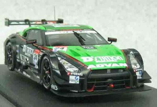 Ebbro 45063 D Station ADVAN GT-R SUPER GT500 2014, €No.24 Green Black 1/43 Scale