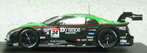 Ebbro 45063 D Station ADVAN GT-R SUPER GT500 2014, €No.24 Green Black 1/43 Scale