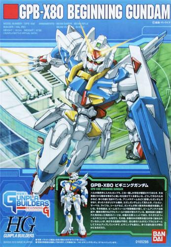 Bandai HG GB 001 Gundam GPB-X80 BEGINNING Gundam 1/144 Scale Kit