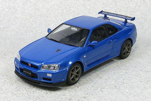 Ebbro 24016 Nissan Skyline GT-R R34 V SpecII (Blue) 1/24 Scale