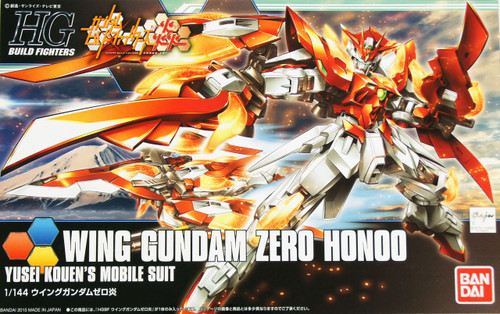 Bandai HG Build Fighters 033 WING Gundam ZERO HONOO 1/144 Scale Kit