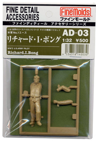 Fine Molds AD3 WW2 U.S Army Ace Pilot Richard Bong 1/32 Scale Kit