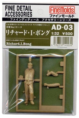 Fine Molds AD3 WW2 U.S Army Ace Pilot Richard Bong 1/32 Scale Kit