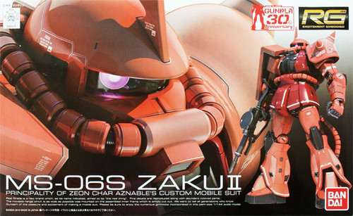 Bandai RG 02 Gundam MS-06S ZAKU II 1/144 Scale Kit