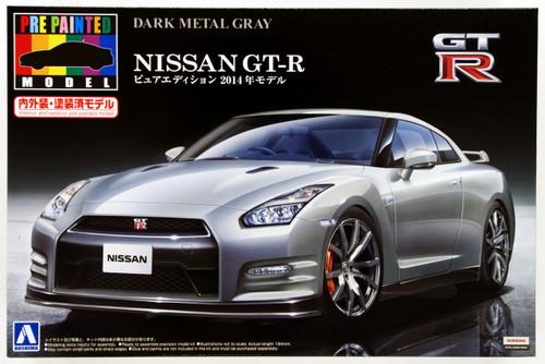 Aoshima 11355 Nissan GT-R (R35) 2014 Dark Metal Gray 1/24 Scale Kit (Pre-painted Model)