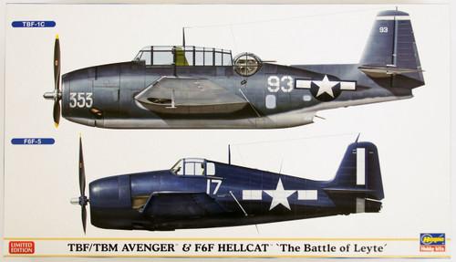 Hasegawa 02162 TBF/TBM Avenger & F6F Hellcat The Battle of Leyte 1/72 Scale Kit