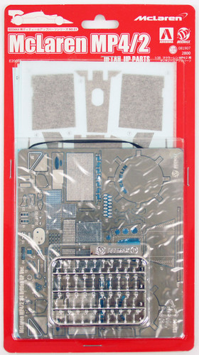Aoshima 81907 McLaren MP4/2 1984 British GP Photo Etched Parts 1/20 Scale