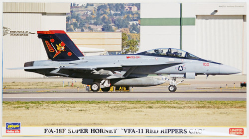 Hasegawa 02160 F/A-18F Super Hornet VFA-11 Red Rippers Cag 1/72 Scale Kit