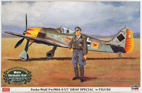 Hasegawa 08241 Focke-Wulf Fw190A-5/U7 Graf Special with Figure 1/32 Scale Kit