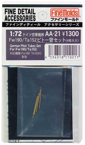Fine Molds AA21 IJA Pitot Tubes 4 Set for Fw190 / Ta152 1/72 Scale Kit