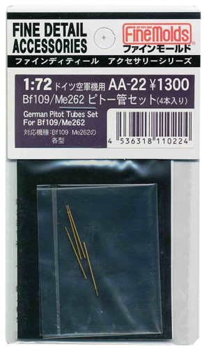 Fine Molds AA22 IJA Pitot Tubes 4 Set for Bf109 / Me262 1/72 Scale Kit