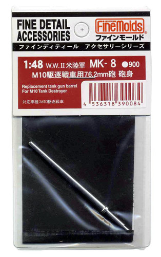 Fine Molds MK8 Replacement Tank Gun Barrel For M10 Tank Destroyer 1/48 Scale Kit