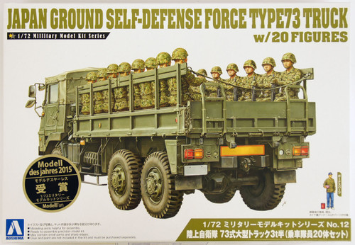 Aoshima 12093 JGSDF Japan Ground Self Defence Force Type 73 Truck with 20 Figures 1/72 Scale Kit