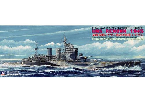Pit-Road Skywave W-131 Royal Navy Renown Class Battlecruiser HMS Renown 1945 1/700 Scale Kit