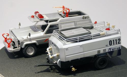 Aoshima 15193 Nissan Safari 4WD & Tank Car (Seibu Keisatsu) 1/24 Scale Kit