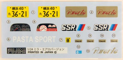 Fujimi ID-153 Daihatsu MIRA Turbo TR-XX or AERO 1/24 Scale convertible Kit 039473