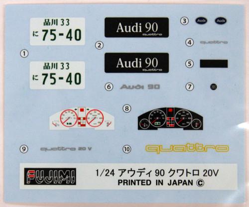 Fujimi RS-07 Audi 90 Quattro 20V 1/24 Scale Kit 126333