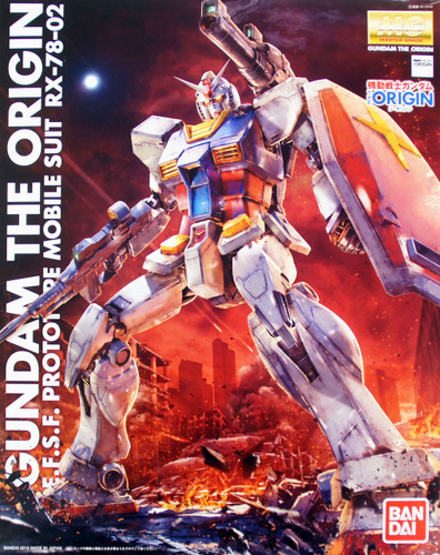 Bandai MG 013143 Gundam RX-78-02 Gundam (Gundam The Origin Version) 1/100 Scale Kit