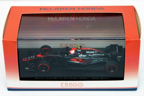 Ebbro 45327 McLaren Honda MP4-30 2015 Middle Season/Jenson Button 1/43 Scale