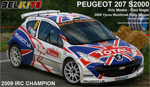 Aoshima (BELKitS) 84298 Peugeot 207 S2000 2009 IRC Champion 1/24 Scale Kit