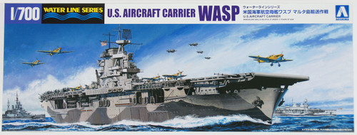 Aoshima Waterline 10327 US Aircraft Carrier WASP 1/700 Scale Kit