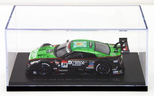 Ebbro 45263 DStation Advan Super GT-R Okayama 2015 No.24 Green Black 1/43 Scale