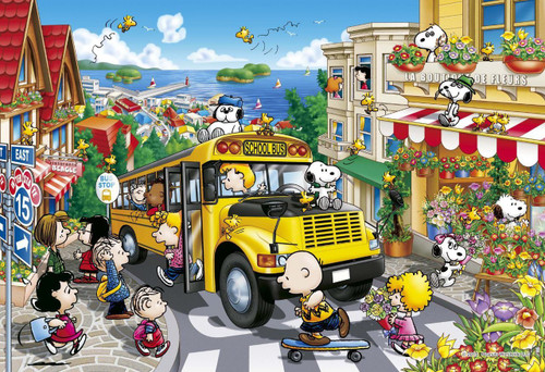 Apollo-sha Jigsaw Puzzle 48-773 Peanuts Snoopy Happy School Bus (300 Pieces)
