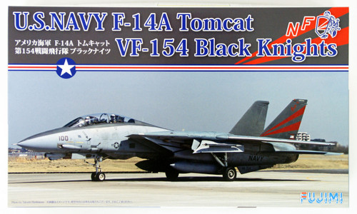 Fujimi F03 F-14A Tomcat VF-154 Black Knights 1/72 Scale Kit 722795