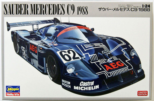 Hasegawa 20273 Sauber Mercedes C9 1988 Limited Edition 1/24 Scale Kit