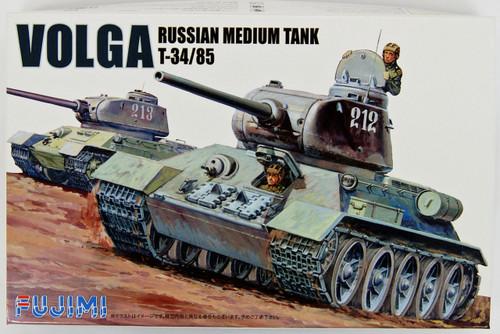 Fujimi WA09 World Armor Russian Medium Tank T34/85 VOLGA 1/76 Scale Kit