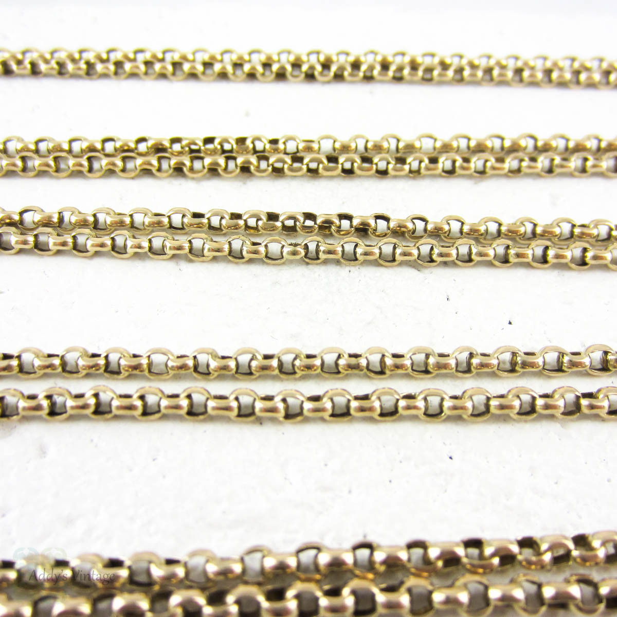 antique 9 carat long guard chain belcher link yellow gold chain necklace 173 cm 68 inches. Black Bedroom Furniture Sets. Home Design Ideas