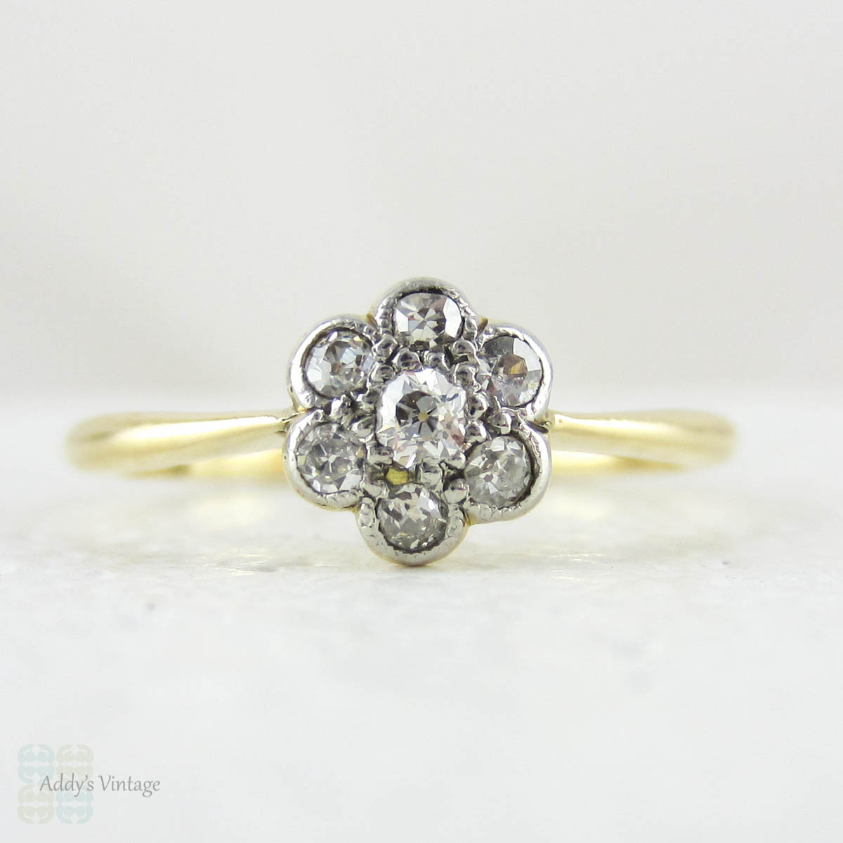 reserved antique diamond engagement ring daisy flower