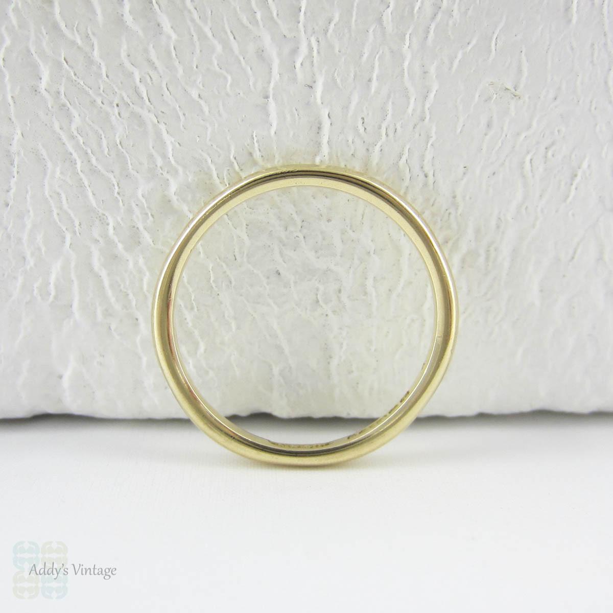 Vintage Yellow Gold Wedding Ring 9 Carat Yellow Gold