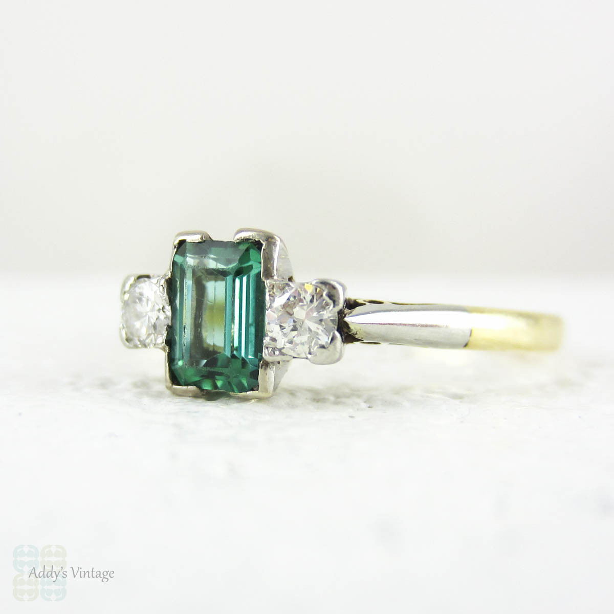 zoom listing il tourmaline engagement gemstone flower fullxfull green emerald rings halo diamond