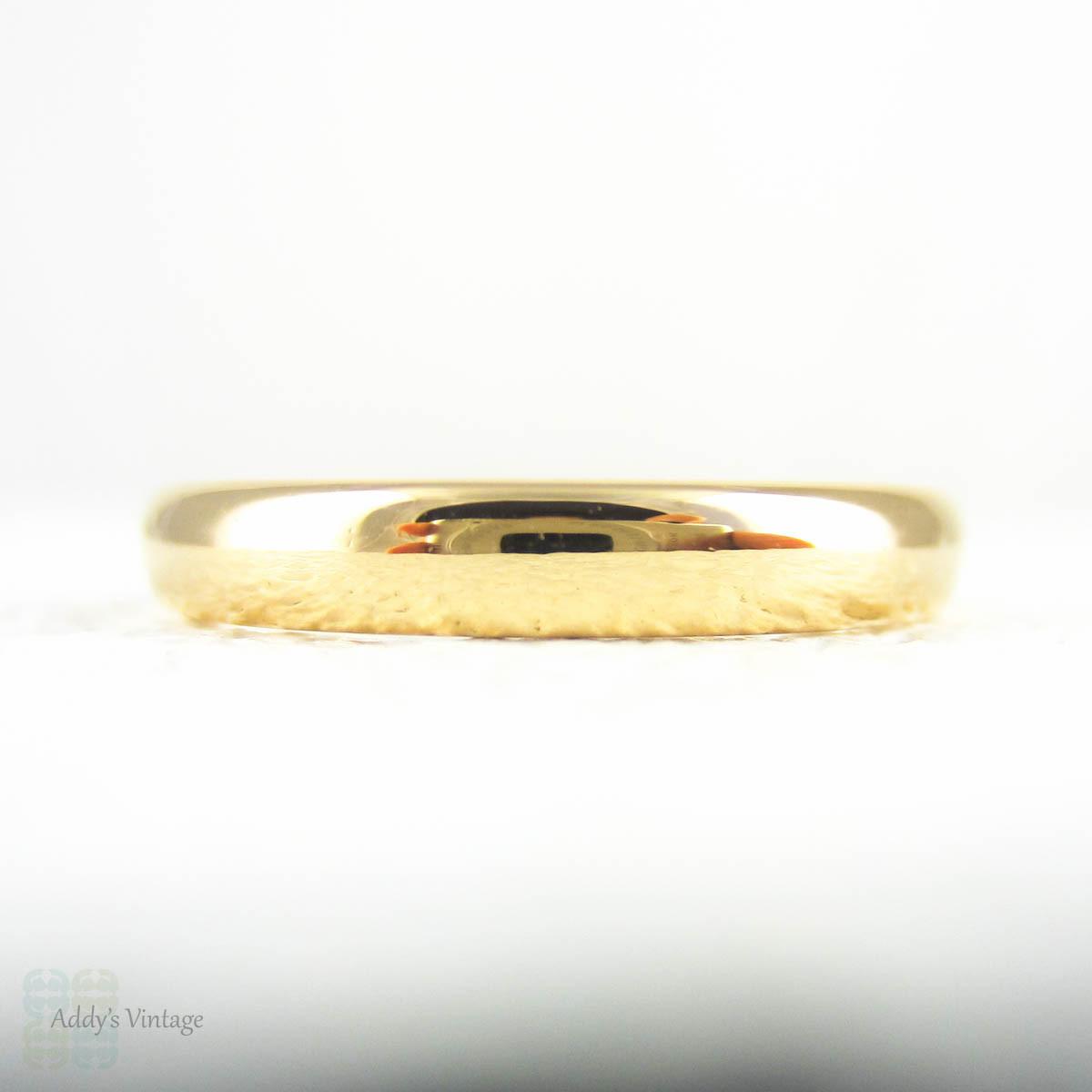 RESREVED Art Deco 22 Carat Gold Wedding Ring Court Comfort Fit