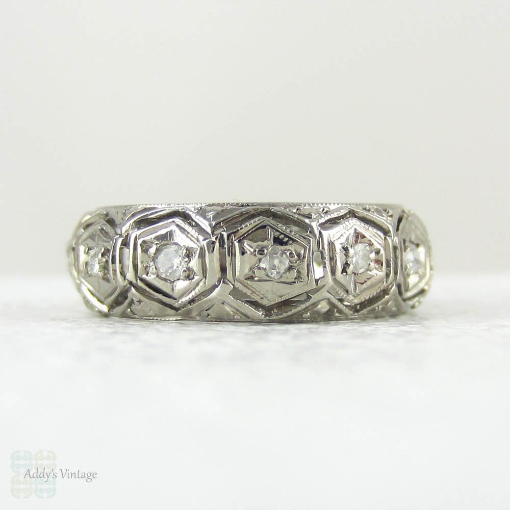 Art Deco Filigree Diamond Amp Platinum Wedding Ring